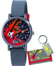 Tikkers ATK1015 Boys 3D 'Rock' Watch Gift Set with Wallet and Keyring