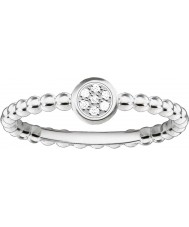 Thomas Sabo D-TR0004-725-14-54 Ladies Glam and Soul 925 Sterling Silver Diamond Ring - Size O (EU 54)