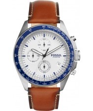 Fossil CH3029 Mens Sport 54 Brown Leather Strap Chronograph Watch