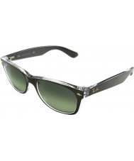 RayBan RB2132-52 New Wayfarer Top Brushed Gunmetal On Transparent 6143-71 Sunglasses