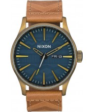 Nixon A105-2731 Mens Sentry Leather Watch