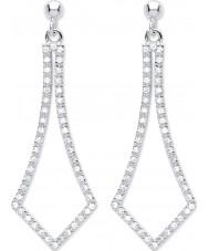 Purity 925 PUR3827ED Ladies 925 Sterling Silver Open Drop Earrings