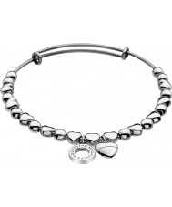 Emozioni DC094 Ladies Silver Plated Heart Bangle