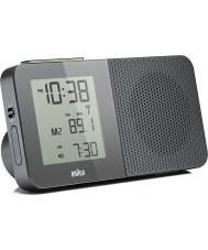 Braun Grey Digital Radio Alarm Clock