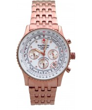 Krug Baümen 400601DS Air Traveller Diamond White Dial Rose Gold Strap
