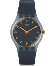 Swatch SUOM105 Nuit Bleue Blue Silicone Strap Watch