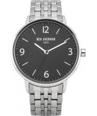 Ben Sherman WB023BM Mens Portabello Casual Black Steel Bracelet Watch