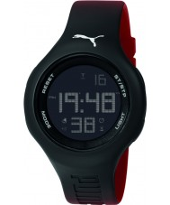 Puma PU910801031 Loop L Red Silicone Strap Chronograph Watch