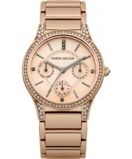 Karen Millen KM107RGM Ladies Rose Gold Plated Bracelet Watch with Swarovski Crystals