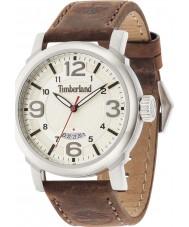 Timberland 14815JS-07 Mens Berkshire Dark Brown Leather Strap Watch