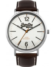 Superdry SYG194TS Mens Oxford Brown Leather Strap Watch