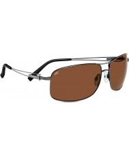 Serengeti Sassari Shiny Gunmetal Polarized Drivers Sunglasses