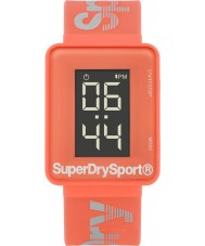 Superdry SYL204C Ladies Sprint Digi Coral Silicone Strap Watch