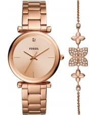 Fossil ES4685SET Ladies Carlie Watch and Bracelet Gift Set