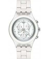 Swatch SVCW4000AG Unisex Full Blooded White Skull Watch