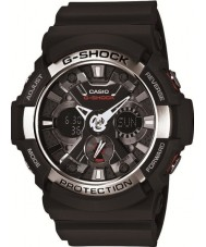 Casio GA-200-1AER Mens G-Shock World Time Black Chronograph Watch
