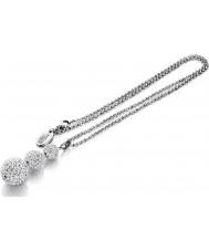 Shimla SH-126 Ladies Clear Crystal Triple Fireball Pendant