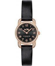 Coach 14502670 Ladies Delancey Black Leather Strap Watch