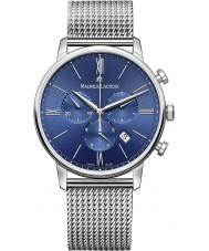 Maurice Lacroix EL1098-SS002-410-1 Mens Eliros Silver Steel Chronograph Watch