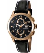 S Coifman SC0111 Mens Black Leather Strap Watch
