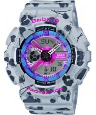 Casio BA-110FL-8AER Ladies Baby-G Multicolour Worldtime Combi Watch