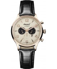 Ingersoll IN1309RCR Mens Golden Age Automatic Black Chronograph Watch