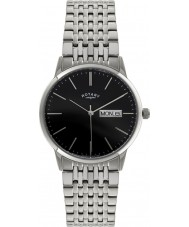 Rotary GB02750-10 Mens Timepieces Silver Steel Bracelet Watch