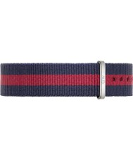 Daniel Wellington DW00200046 Ladies Classic Oxford 36mm Silver Blue and Red Nylon Spare Strap
