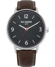 Ben Sherman WB023BR Mens Portabello Casual Brown Leather Strap Watch