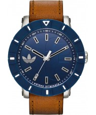 Adidas ADH3000 Amsterdam Brown Leather Strap Watch