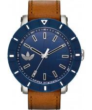 Adidas ADH3000 Amsterdam Brown Leather Strap Watch