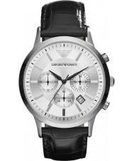 Emporio Armani AR2432 Mens Silver Black Chronograph Watch
