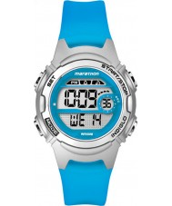 Timex TW5K96900 Ladies Marathon Mid Size Blue Resin Strap Chronograph Watch