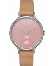 Skagen SKW2406 Ladies Anita Brown Leather Strap Watch