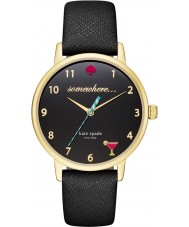 Kate Spade New York KSW1039 Ladies Metro Black Leather Strap Watch