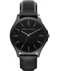 Armani Exchange AX2148 Mens Dress Black Leather Strap Watch
