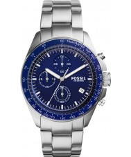 Fossil CH3030 Mens Sport 54 Silver Steel Bracelet Chronograph  Watch