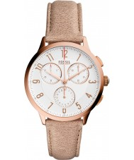 Fossil CH3016 Ladies Abilene Light Brown Leather Chronograph Watch