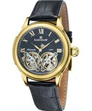 Thomas Earnshaw ES-8030-02 Mens Observatory Black Croco Leather Strap Watch