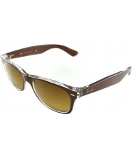 RayBan RB2132 52 New Wayfarer Top Brushed Brown On Transparent 614585 Sunglasses