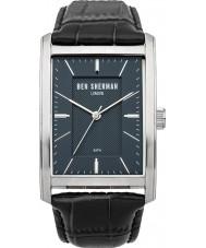 Ben Sherman WB013U Mens Blue and Black Leather Strap Watch
