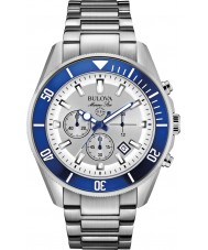 Bulova 98B204 Mens Marine Star Silver Chronograph Watch