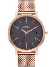 Nixon A1087-2449 Mens Rollo 38 SS All Rose Gold Steel Bracelet Watch