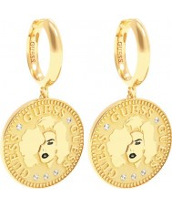 Guess UBE79156 Ladies Coin Earrings