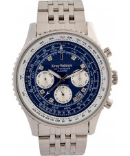 Krug-Baumen 600304DSA Mens Air Traveller Diamond Automatic Watch