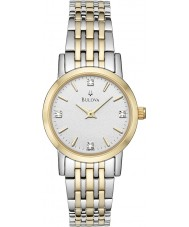 Bulova 98S115 Ladies Diamond Two Tone Steel Bracelet Watch