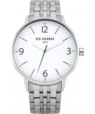 Ben Sherman WB023SM Mens Portabello Casual White and Steel Bracelet Watch