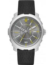 Diesel DZ1739 Mens Machinus Black Leather Strap Watch