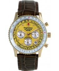 Krug Baümen 400219DS Air Traveller Yellow Dial Brown Strap