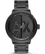 Armani Exchange AX1365 Mens Black IP Steel Bracelet Sports Watch